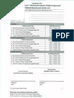 Permohonan -Pendaftaran Perusahaan- Perseorangan Non Ud