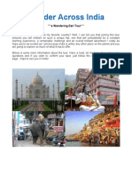 Wander Across India - Nov 2014 (Itinerary & Details)