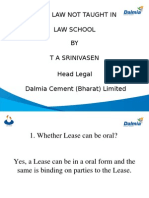Law Not Taught in Law Schools - Lease