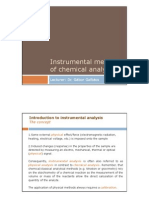 Physical Analysis 2010 - Introduction to Instrumental Chemical Analysis
