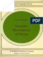 Semantic Mechanisms of Humor (RASKIN, V)2