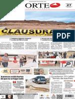 Periódico Norte edición del día 27 de agosto de 2014