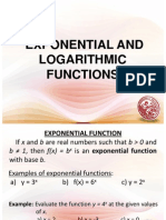 L11 Exponential and Logarthmic Functions