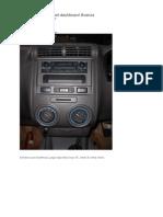 Cara Membuka Panel Dashboard Avanza