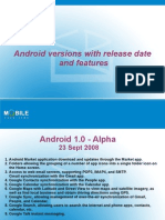 Android Versions With release date and features