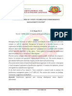 """A RESEARCH PAPER ON """"STUDY OF EMPLOYEE'S PERFORMANCE  MANAGEMENT SYSTEM"""""""