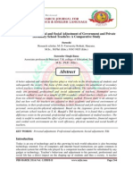 Personal, Profesional and Social Adjustment of Government and Private Secondary Schol Teachers