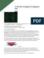 Computer Simulated Matrix