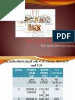 Tax Slabs of India 2014-15