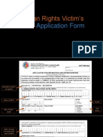 Human Rights Victim's Claim Application Form and FAQs