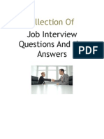 Collection of Job Interview Questions and the Answers (1)