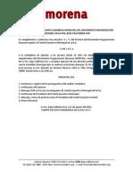 Convocatoria 4a Asamblea Municipal La Paz Bcs