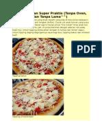 Pizza Kilat Dan Super Praktis