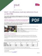 CP 23 SNCF Du Nouveau Sur Ses Services Pour La Rentrée