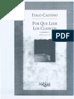Italo Calvino Por Que Ller a Los Clasicos Scanner