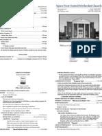 Spiro First United Methodist Church Worship Bulletin for December 6, 2009