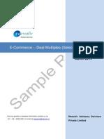 E-Com Deal Multiples (Select Transactions)
