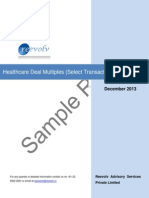 Healthcare Deal Multiples (Select Transactions) - Part 1