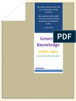 233332289 General Knowledge for IBPS SSC UPSC SBI 10000 Plus GK Questions Series