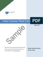 Indian Eyewear Retail Industry Report