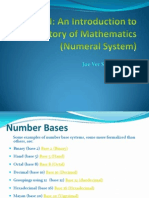Introduction to the History of Mathematics (Numeral System) -Joe Ver
