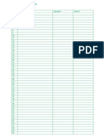 Attendance Sheet