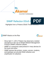 DDoS Attack Threats | SNMP Reflection Threat Advisory | Akamai Presentation