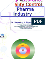 Quality Assurance Control in Pharma Industry