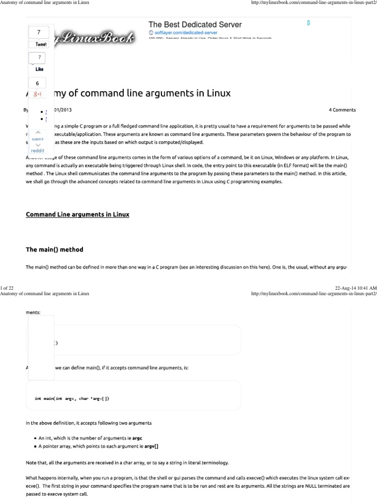 Anatomy of Command Line Arguments in Linux | Computer