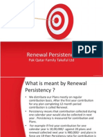 Renewal Persistency