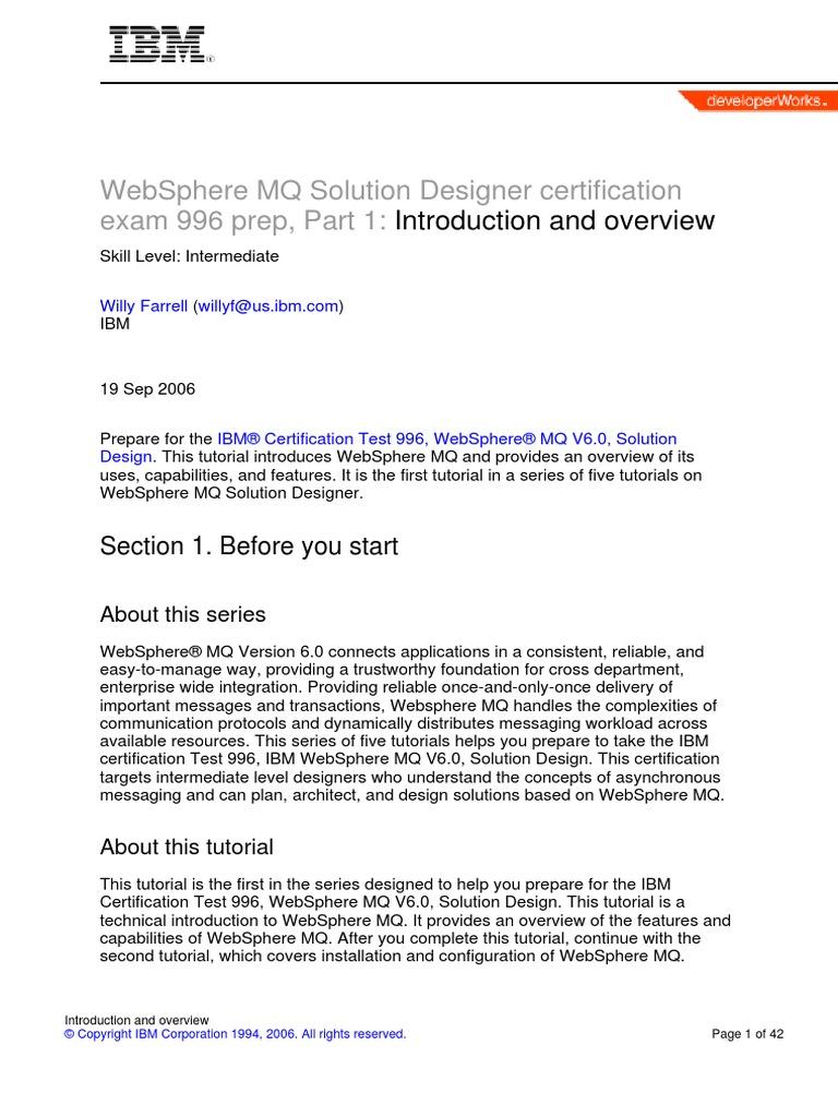 IBM MQ Tutorial | Application Programming Interface