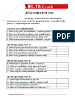 IELTS Speaking Quiz