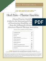 Heel Pain-Plantar Fasciitis - JOSPT - April 2008