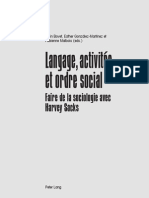 Langage Activités Et Ordre Social