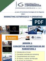 Sesión 1 Conceptos Estratégicos de Marketing I