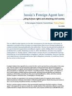 NHC PolicyPaper 6 2014 Russiasforeignagentlaw