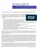 PR - SEBI issues Circular on Core Settlement Guarantee Fund, Default Waterfall and Stress Testing