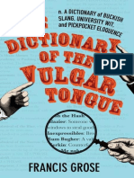 The Dictionary of the Vulgar Tongue