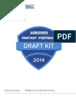 CBS Sports Fantasy Football Draft Kit 2014