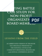 A Siting Battle Case Study for Non-profit Organization Board Members
