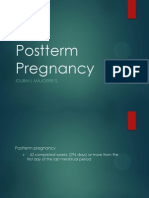 Postterm Pregnancy and Fetal Growth Disorder