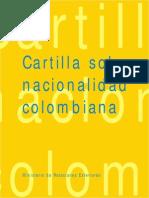 Nacionalidad Colombiana