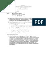 Board Agenda - October 2009