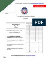 Mathematics UPSR 2001