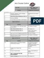 2014-2015 semester 1 outline