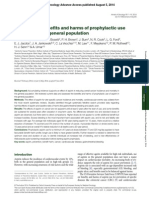 Estimates of benefits and harms of prophylactic use of aspirin in the general population