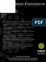 Reportes Científicos de la FACEN Vol. 4 Nº1