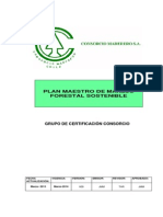 Plan Maestro de Manejo Forestal.consorcio Maderero