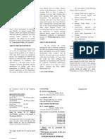 Brochure Formate for International Conference