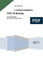 Análisis Socioeconomico UPZ 18. Britalia